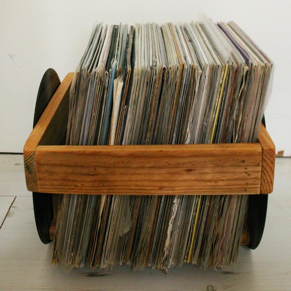 bac a disques vinyles cote les