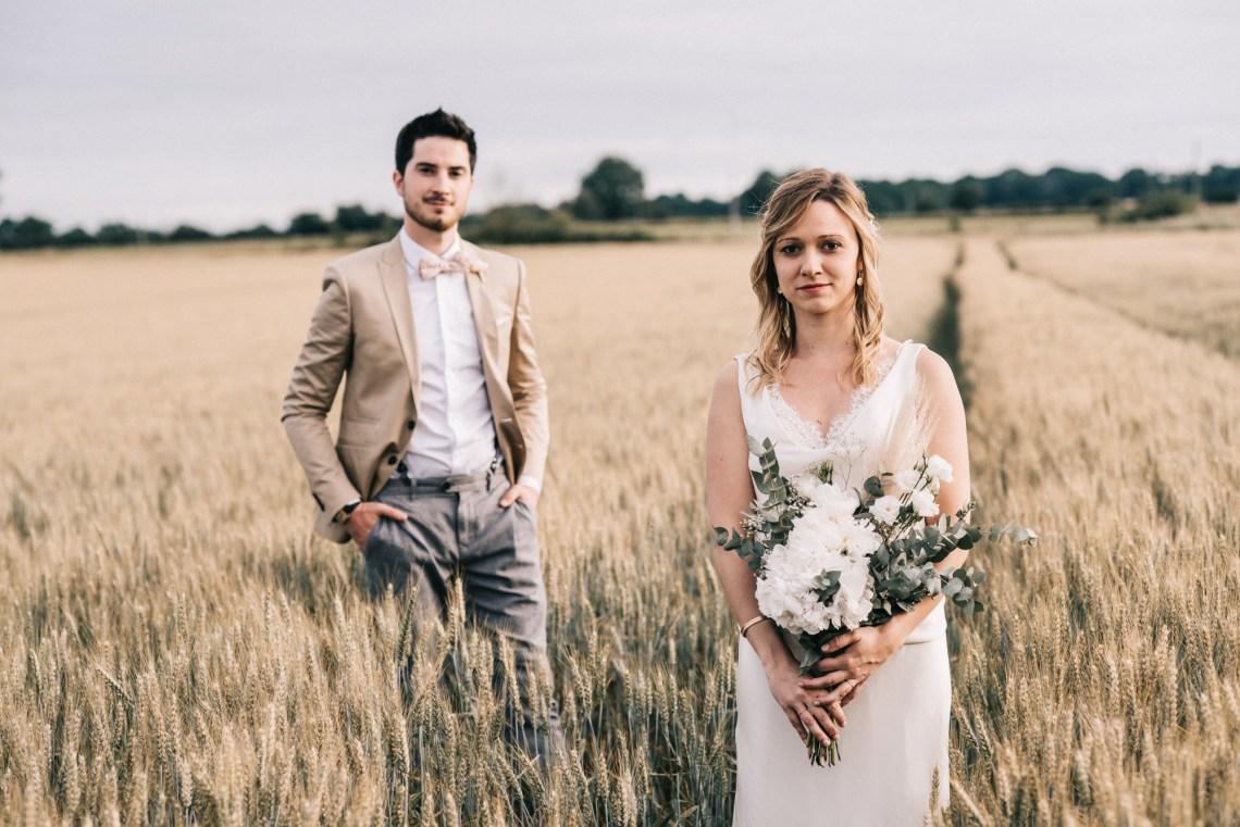 Photographe de mariage à Cholet, mariage bohème, mariage champêtre chic