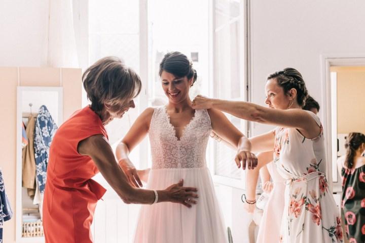 robe mariée Marie Laporte - les mariages de Tom photographe