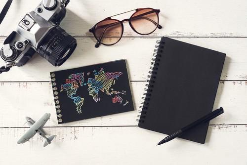 Un bureau de blogging voyage