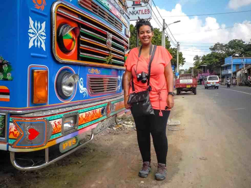 Truck couleur à Jaffna avec maman