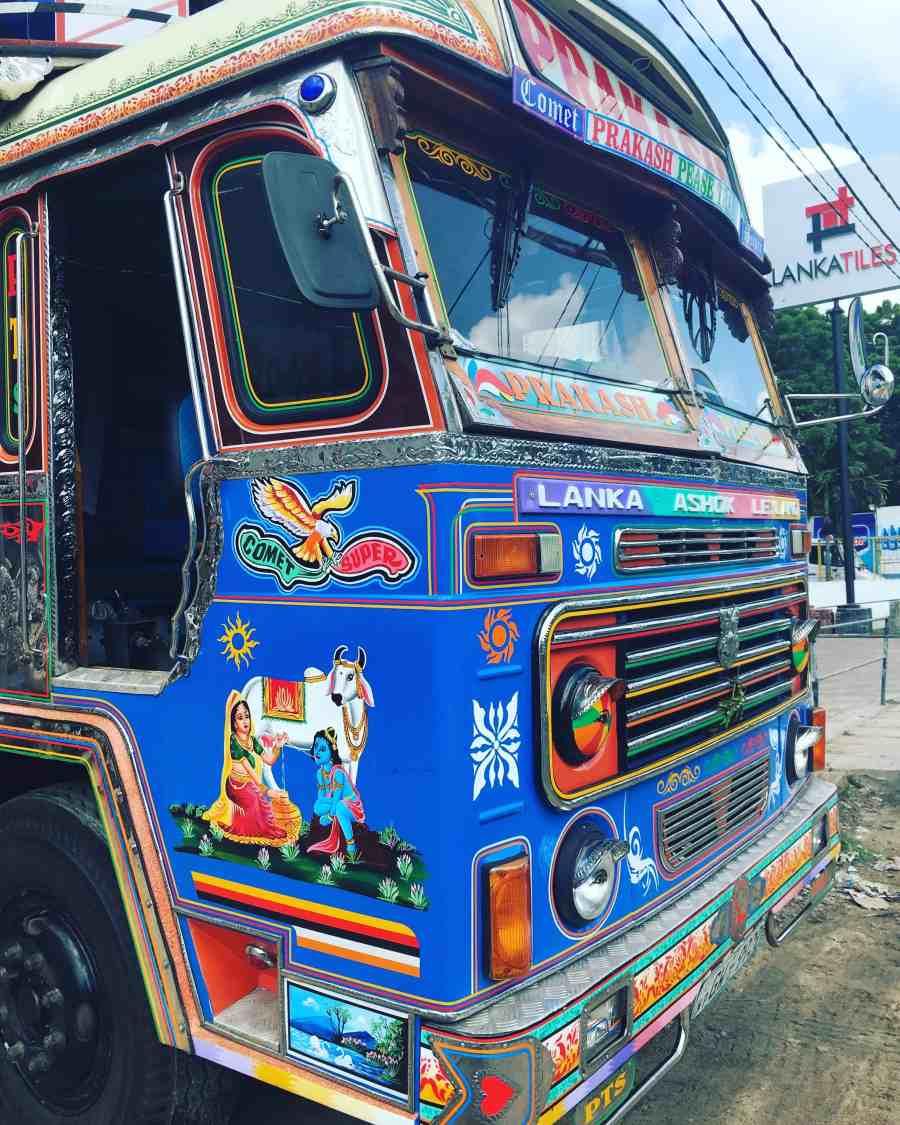 Truck coloré à Jaffna