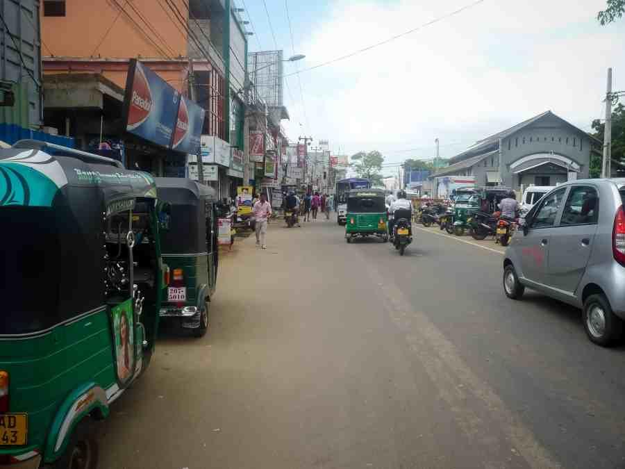 Centre ville agité de Jaffna