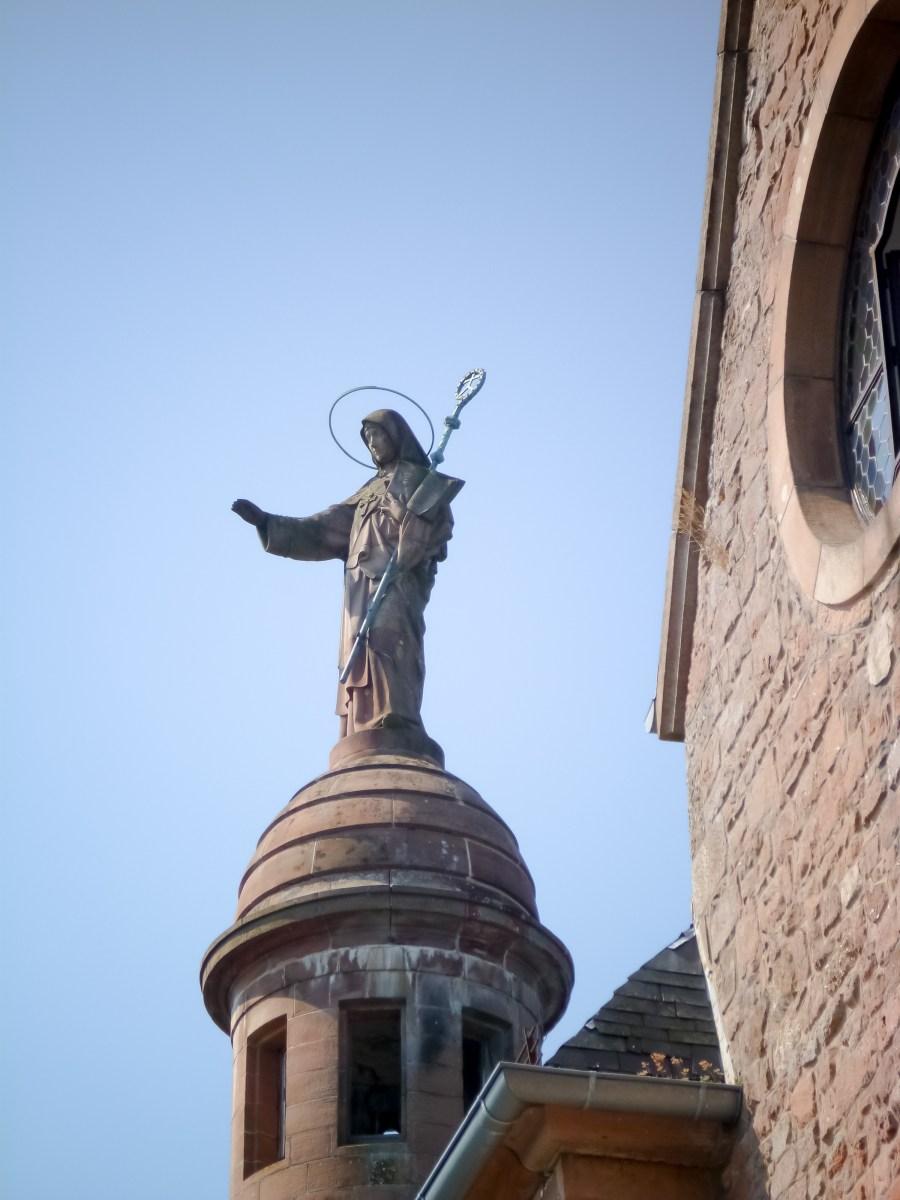 route des vins-alsace-france-mont saint odile-pelerinage-monastere-extérieur-religion
