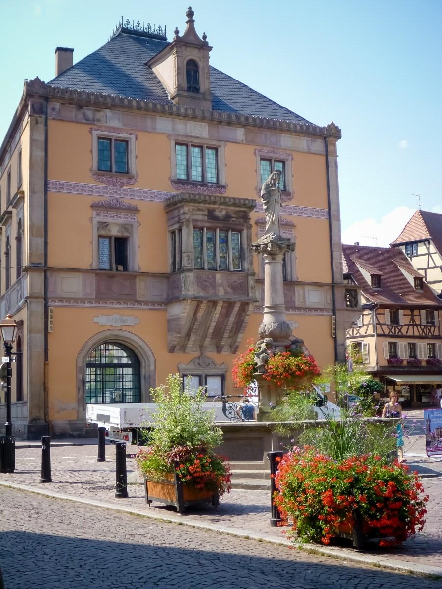 route des vins-alsace-obernai-ville-fleurs
