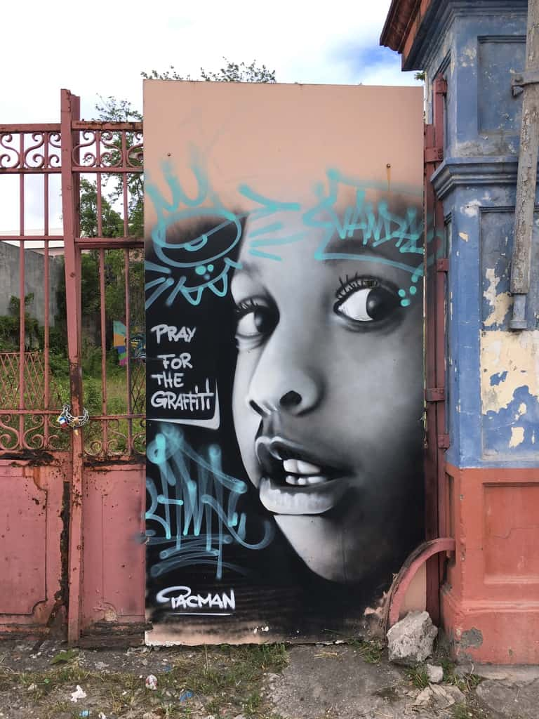 street art-pointe pitre-oeuvres-graf-tag-mural-enfant