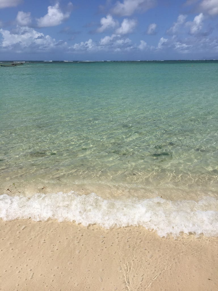 plage-sainte anne-eau-translucide-guadeloupe-caraibes