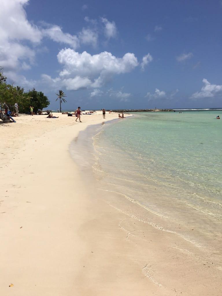 Une plage étendue à Sainte Anne en Guadeloupe