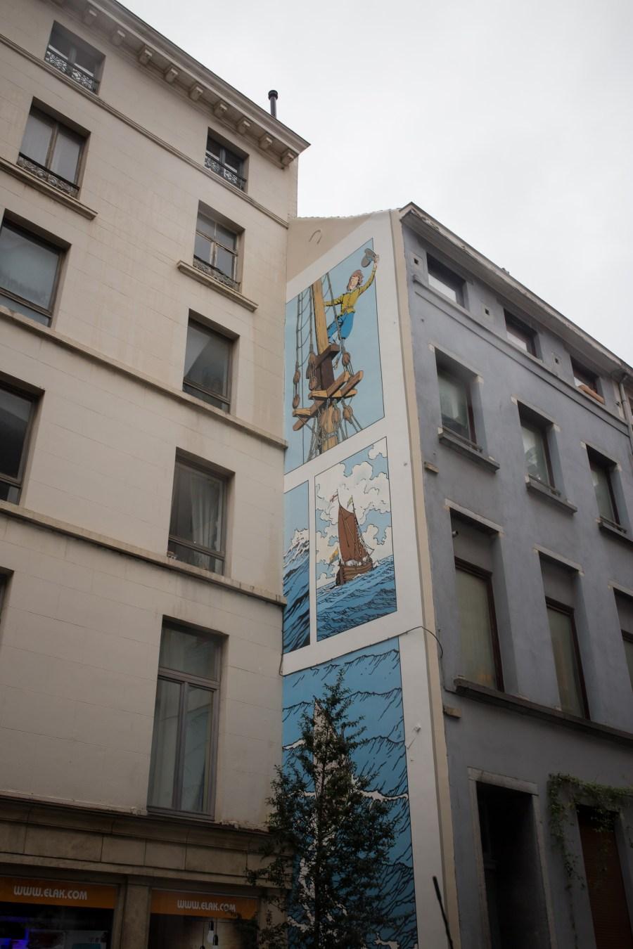 Bruxelles-belgique-fresque-bande dessinée