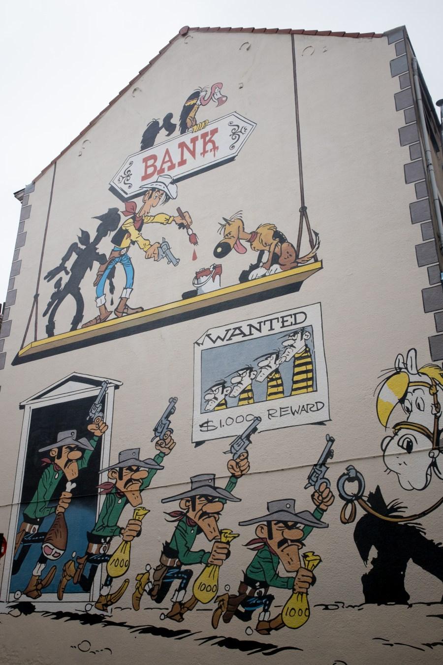 Bruxelles-belgique-fresque-bande dessinée-lucky luke