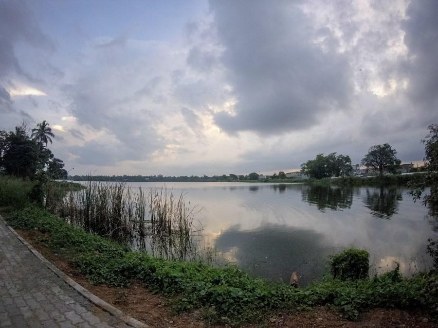 Diamond Lake à Anuradhapura au Sri Lanka