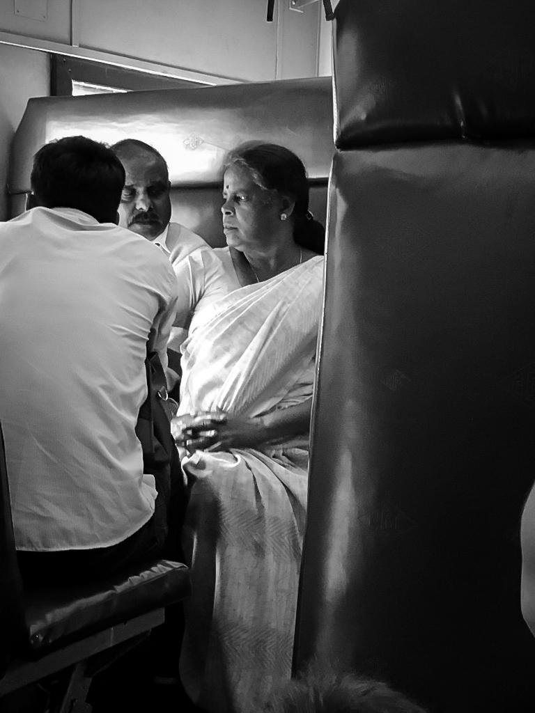 La vie dans un train au Sri Lanka