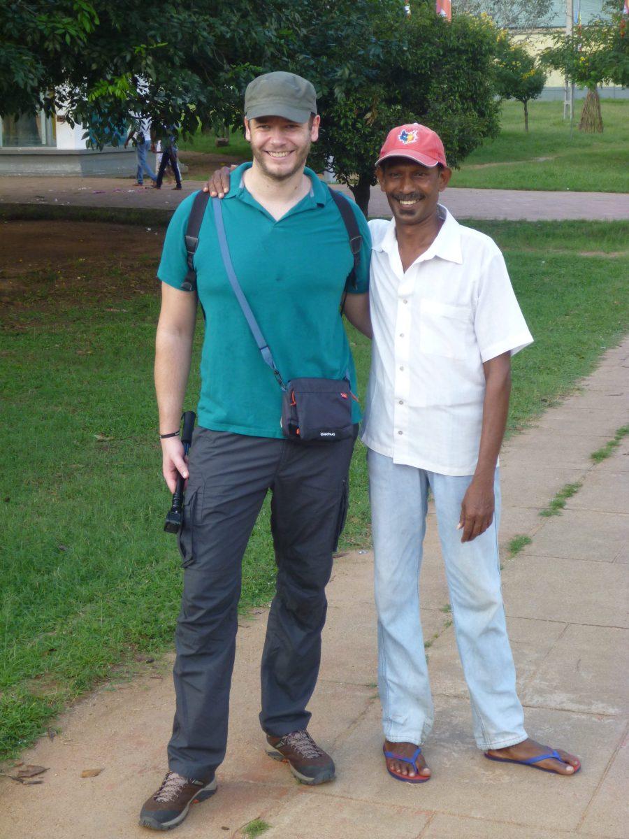 Sindu notre guide local à Anuradhapura au Sri Lanka