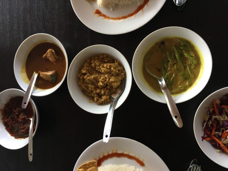 Le délicieux rice and curry du Sri Lanka
