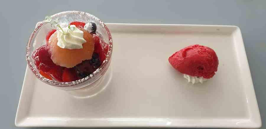 Dessert au restaurant Marc Meurin à Lens