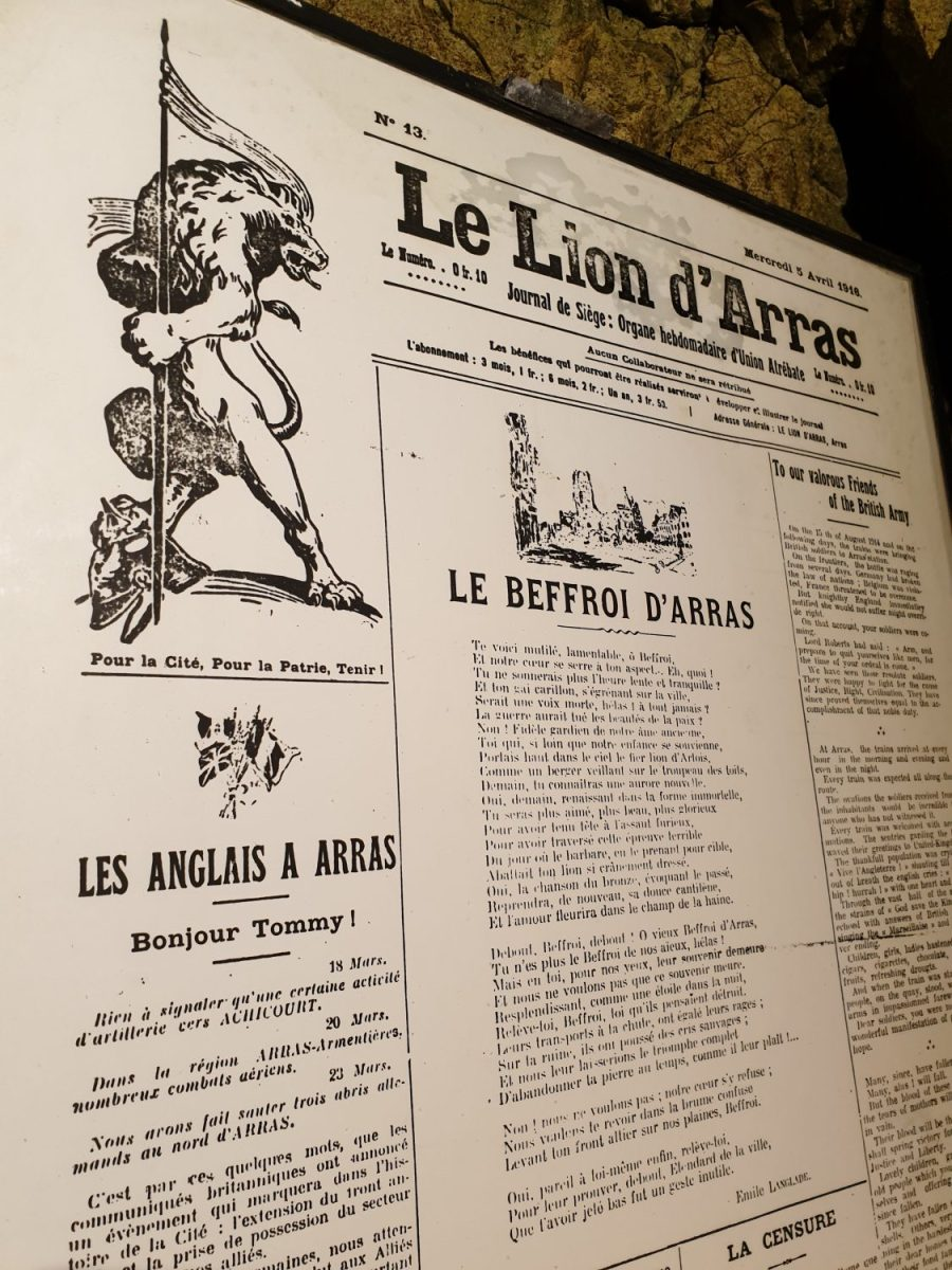 Le lion d'Arras un ancien journal