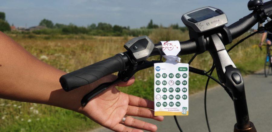 Itinéraire à vélo avec le réseau points noeuds en Flandre