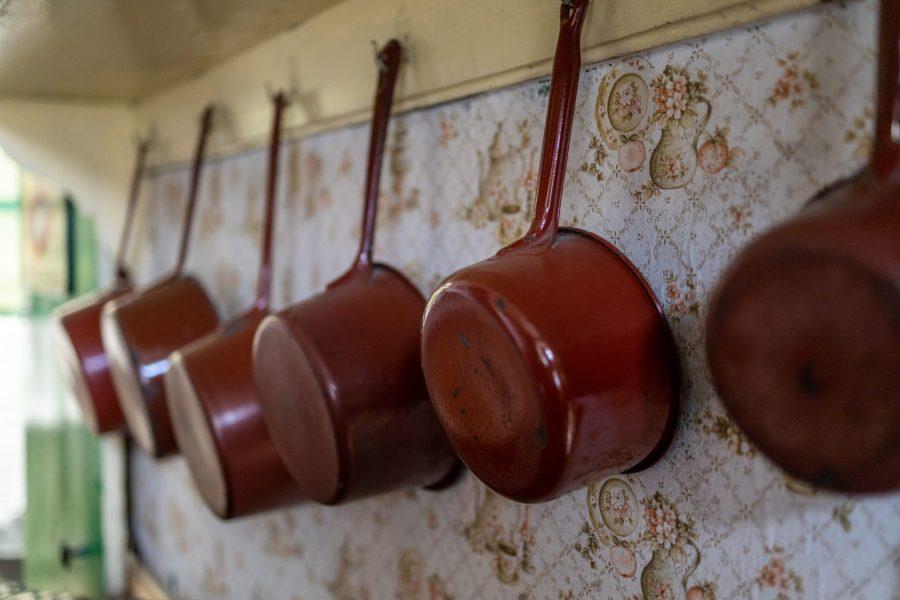 Objets vintage au musée de la vie rurale à Steenwerck