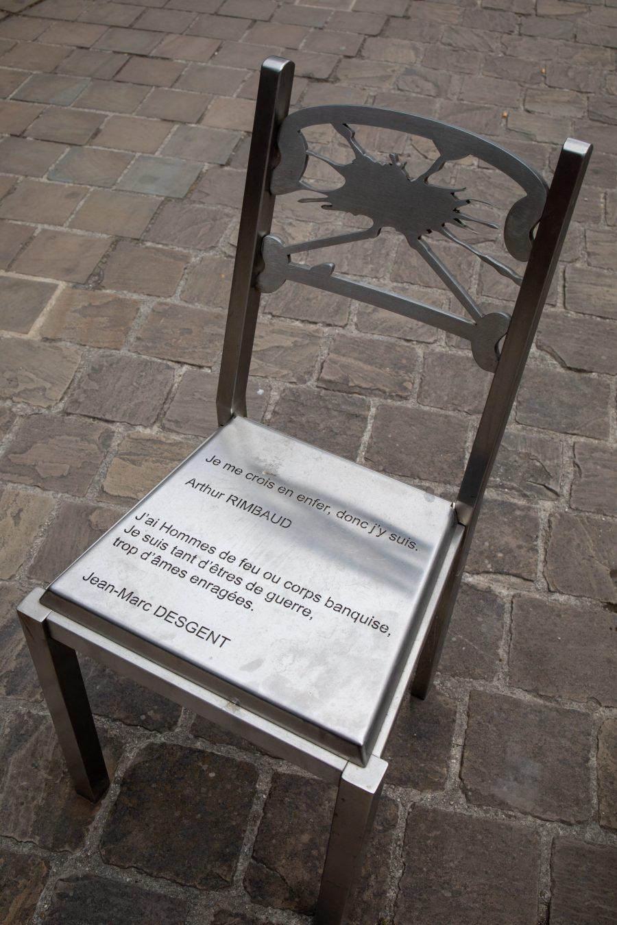 Arthur Rimbaud s'invite partout dans les rues de Charleville Mézières