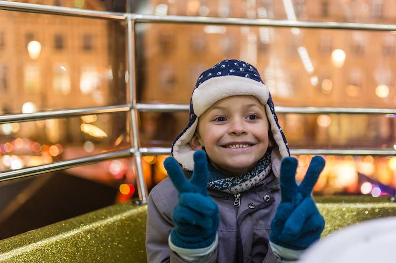 Dans la grande roue du marché de Noël d'Arras