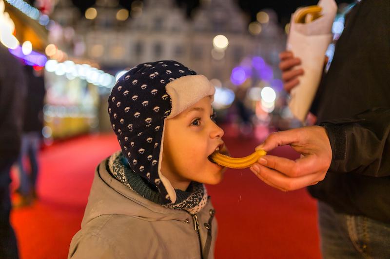 Churros sur le marché de Noël d'Arras