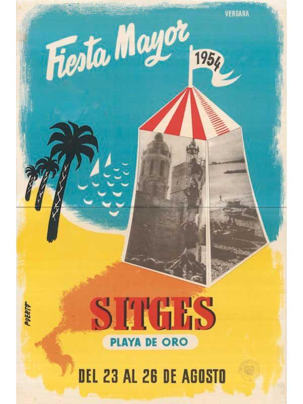 Cartell de Festa Major de Sitges 1954