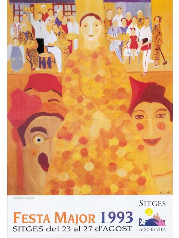 Cartell de Festa Major de Sitges 1993