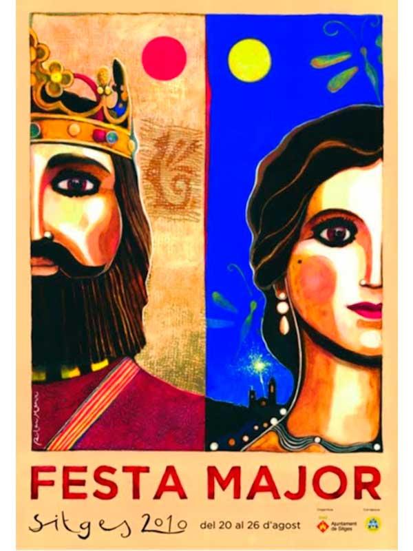 Cartell de Festa Major de Sitges 2010