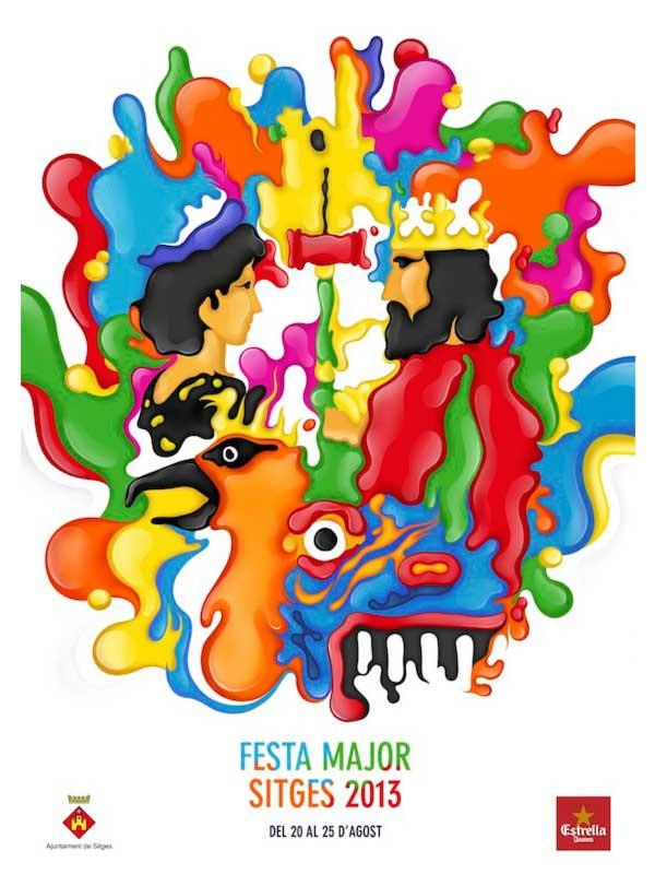 Cartell de Festa Major de Sitges 2013