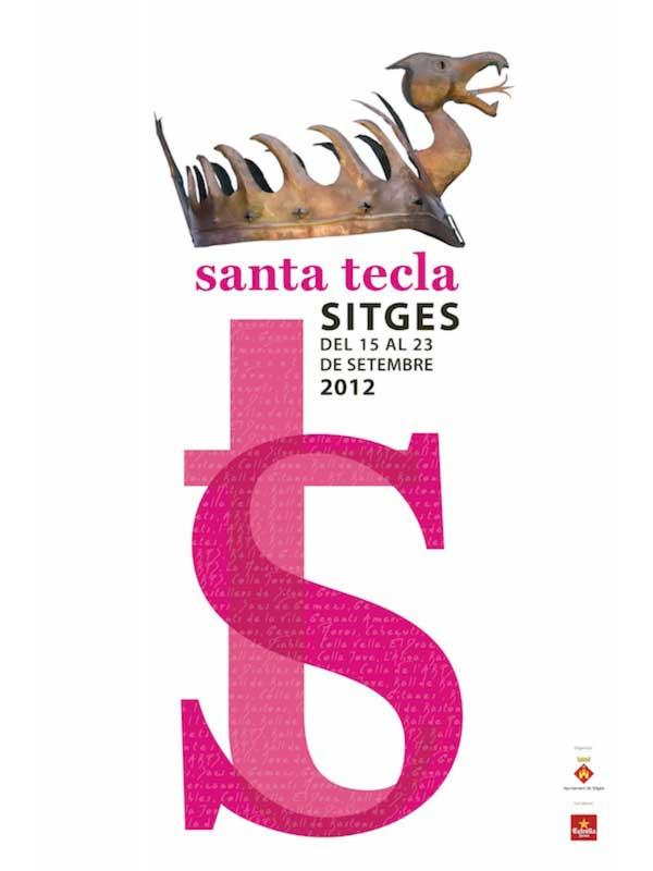 Cartell de Santa Tecla a Sitges 2012