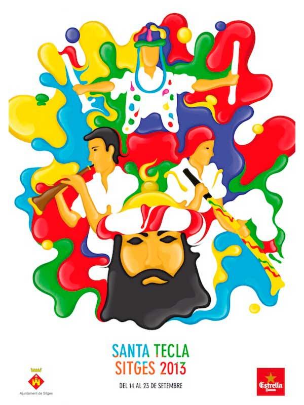 Cartell de Santa Tecla a Sitges 2013