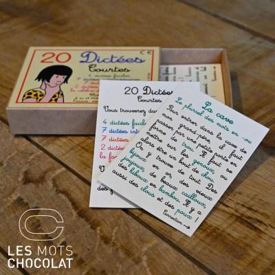 Jeu 20 dictées courtes - Les Mots chocolat