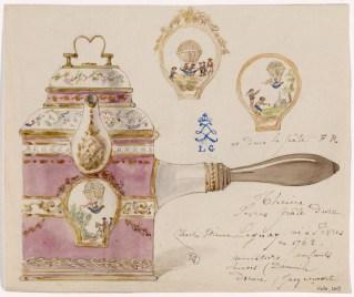 Théière en pâte dure de Sèvres Vers 1783