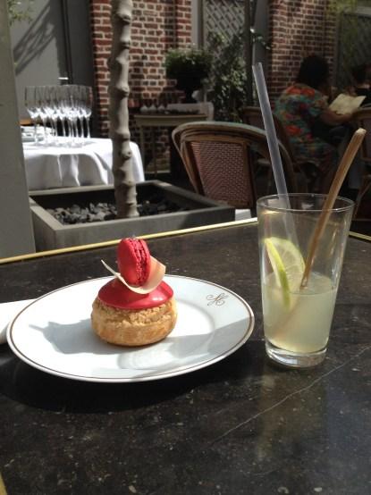 Un goûter chez Meert : chou framboise et citronnade