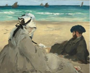 Édouart Manet, Sur la plage.