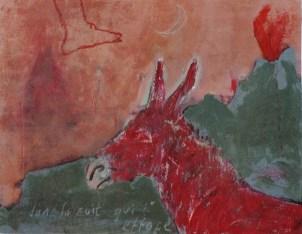 GUILLET Valérie Sans titre, 2004 Peinture sur bois 32,5 x 25,5 cm