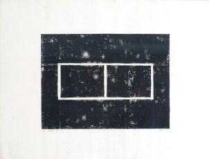 CARIOU Elodie Fenêtre B, 2002 monotype sur papier 51 x 66 cm