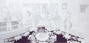 RENAULT Emilie La famille de Montelly, 2007 Sérigraphie 63x100 cm