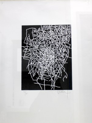 LE SAEC Thierry Sans tire gravure 80x60 cm