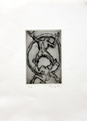 LE BRIS Eric Sans titre Gravure 33 x 25 cm