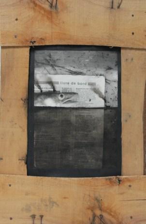BITOUT Gildas Livre de bord photographie, encre et pastel, 50x33cm, 2002