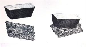MENGUY Bertrand Sans titre gravure 20x40 cm