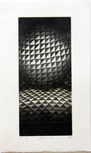 OKAMOTO Hiroko Chair n°126 gravure (3/5) 56x44,5 cm
