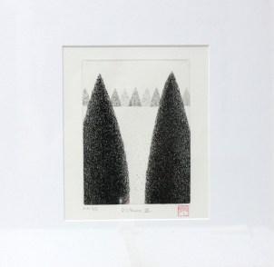 OKAMOTO Hiroko Distance VI gravure (3/5) 43x43 cm