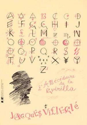 VILLEGLÉ Jacques Sans titre, 1996 sérigraphie par Alain Buyse affiche n°2 53x38 cm
