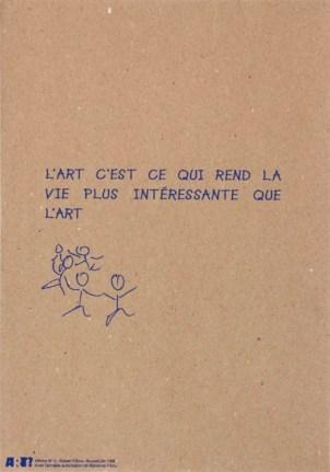 FILLIOU Robert Sans titre, 1996Sérigraphie par Alain Buyseaffiche n°053x38 cm