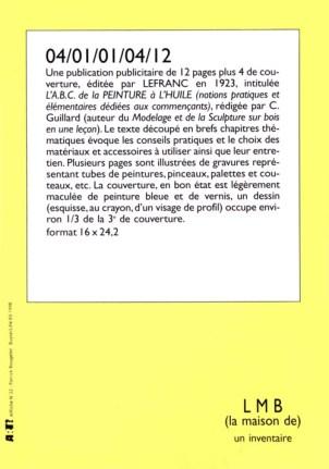BOUGELET Patrick 04/01/01/04/12, 1998 Sérigraphie par Alain Buyse affiche n°22 53x38 cm