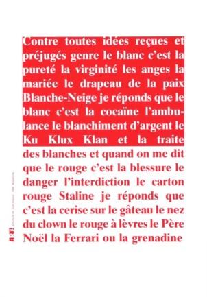 HUBAUT Joël Sans titre, 1998 Sérigraphie par Alain Buyse affiche n°49 53x38 cm