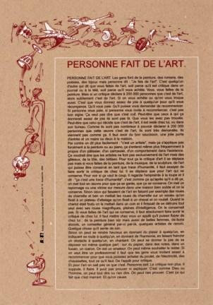 GUILLERMET Robert et NADAUD Daniel Sans titre, 2002 Sérigraphie par Alain Buyse affiche n°79 53x38 cm