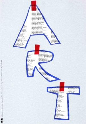 BUTOR Michel Sérigraphie par Alain Buyse affiche n°111 38X53 cm